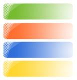 Jogo de bandeiras abstratas Imagens de Stock