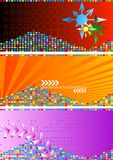 Jogo de bandeiras abstratas brilhantes Imagem de Stock Royalty Free