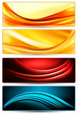 Jogo de bandeiras abstratas coloridas do negócio. Fotografia de Stock Royalty Free