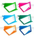 Jogo de bandeiras abstratas do papel do origami. Vetor. Imagens de Stock Royalty Free