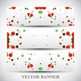 Jogo de bandeiras abstratas do vetor Foto de Stock Royalty Free