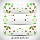 Jogo de bandeiras abstratas do vetor Imagens de Stock Royalty Free