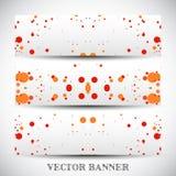 Jogo de bandeiras abstratas do vetor Fotografia de Stock Royalty Free