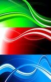 Jogo de bandeiras coloridas Fotos de Stock Royalty Free