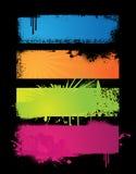 Jogo de bandeiras coloridas. ilustração stock
