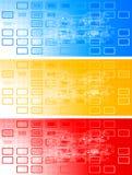 Jogo de bandeiras coloridas Fotografia de Stock