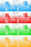 Jogo de bandeiras coloridas Imagens de Stock