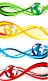 Jogo de bandeiras coloridas Foto de Stock Royalty Free