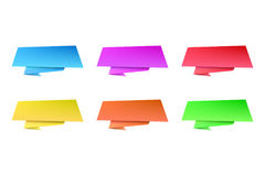 Jogo de bandeiras da cor Imagens de Stock Royalty Free