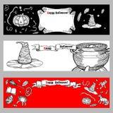 Jogo de bandeiras de Halloween Imagens de Stock