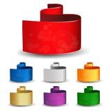 Jogo de bandeiras do anúncio Fotos de Stock Royalty Free