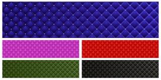 Jogo de bandeiras do couro do vetor Imagens de Stock