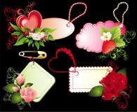Jogo de bandeiras do dia do Valentim Fotografia de Stock