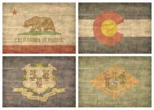 Jogo de bandeiras do estado de E.U. Fotografia de Stock Royalty Free