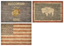Jogo de bandeiras do estado de E.U. ilustração do vetor