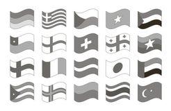 Jogo de bandeiras do mundo Imagens de Stock Royalty Free
