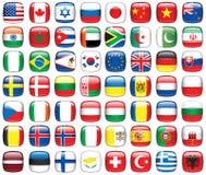 Jogo de bandeiras do mundo Foto de Stock Royalty Free