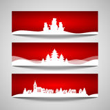 Jogo de bandeiras do Natal Imagens de Stock