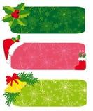 Jogo de bandeiras do Natal Fotografia de Stock Royalty Free