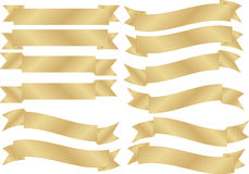 Jogo de bandeiras do ouro Imagem de Stock Royalty Free