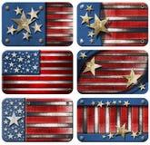 Jogo de bandeiras dos EUA Grunge Imagem de Stock
