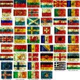 Jogo de bandeiras européias Foto de Stock Royalty Free