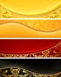 Jogo de bandeiras luxuosas Imagens de Stock