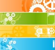 Jogo de bandeiras tecnológicas do maquinismo de relojoaria Fotografia de Stock