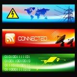 Jogo de bandeiras tecnológicas - vetor do EPS Fotografia de Stock Royalty Free