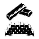 Jogo de barras de ouro Imagem de Stock