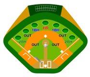 Jogo de basebol Ilustração Stock