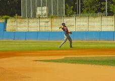 Jogo de basebol Foto de Stock