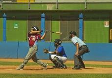 Jogo de basebol Fotografia de Stock