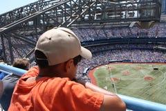 Jogo de basebol Imagens de Stock Royalty Free