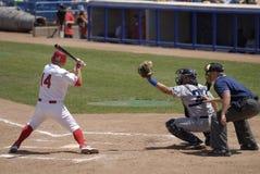 Jogo de basebol Fotos de Stock