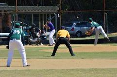 Jogo de basebol Imagens de Stock