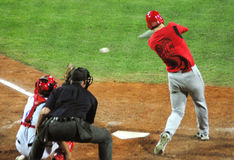 jogo de basebol de Cuba-Canadá Fotos de Stock