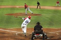jogo de basebol de Cuba-Canadá Imagem de Stock Royalty Free