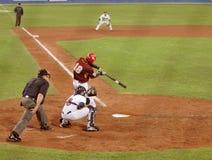 Jogo de basebol de EUA-Venezuela Fotos de Stock