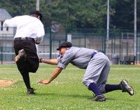 Jogo de basebol do estilo antigo Imagem de Stock Royalty Free