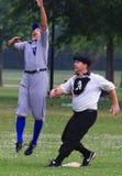 Jogo de basebol do estilo antigo Foto de Stock