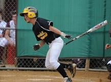 Jogo de basebol dos meninos da High School Fotografia de Stock
