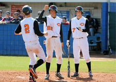 Jogo de basebol dos meninos da High School Foto de Stock