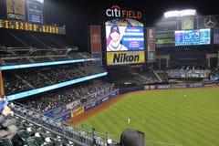 Jogo de basebol de Mets fotografia de stock