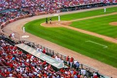 Jogo de basebol no estádio do cardeal Imagem de Stock