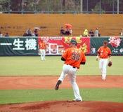Jogo de basebol profissional Imagens de Stock Royalty Free