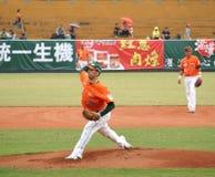 Jogo de basebol profissional Fotos de Stock Royalty Free