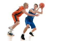 Jogo de basquetebol Imagens de Stock