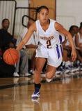 Jogo de basquetebol das meninas da High School Imagens de Stock Royalty Free