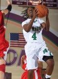 Jogo de basquetebol das meninas da High School Foto de Stock